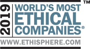 Logo from Ethisphere's 2019 World's Most Ethical Companies.
