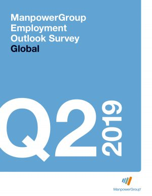 Cover Image of ManpowerGroup's Employment Outlook Survey, Global Results Q2 2019