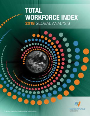 Cover Image of ManpowerGroup's Total Workforce Index 2018 Global Analysis Report