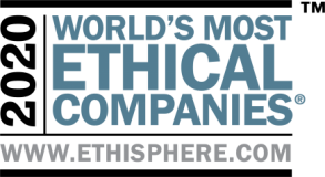 Logo from Ethisphere's 2020 World's Most Ethical Companies.